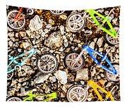 Bmx Pebble Race Tapestry