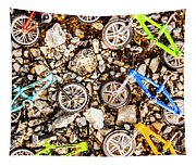Bmx Pebble Race Tapestry