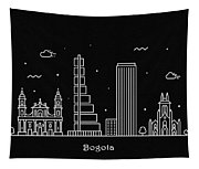 Bogota Skyline Travel Poster Tapestry