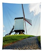 Bonne Chiere Windmill Bruges Belgium Tapestry