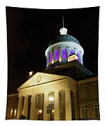 Bonsecours Market At Night In Old Montreal Tapestry