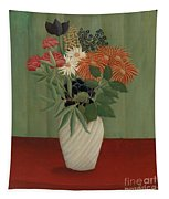 Bouquet Of Flowers With China Asters And Tokyos, 1910 Tapestry