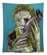 Boy Holding A Bird Tapestry
