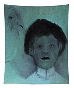 Boy With A Bird Tapestry
