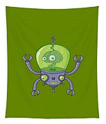 Brainbot Robot With Brain Tapestry