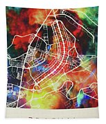 Brasilia Brazil Watercolor City Street Map Tapestry