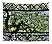 Bridge Through Live Oaks Tapestry