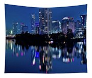 Bright Blue Hour In Austin Tapestry