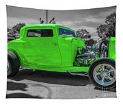 Bright Green Ford Tapestry