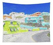 Bright Parish Life Bermuda Tapestry