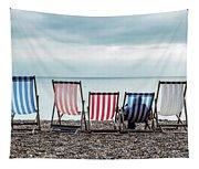 Brighton Beach Chairs Tapestry
