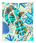 Britain Blues Tapestry