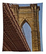 Brooklyn Bridge Over And Under Tapestry by Susan Candelario