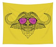 Buffalo In Pink Glasses Tapestry