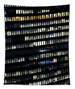 Building At Night In Tokyo Tapestry