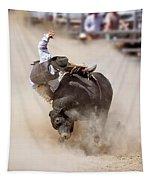 Bull Riding Tapestry
