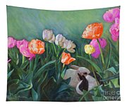 Bunnies In The Blooms Tapestry