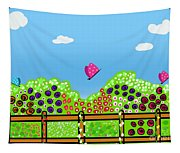 Butterflies And Flowers Tapestry
