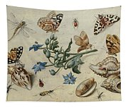 Butterflies, Clams, Insects Tapestry
