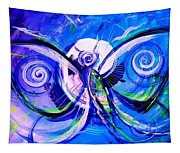 Butterfly Blue Violet Tapestry