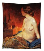 By The Fireside 1910 Tapestry