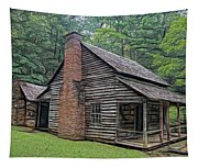 Cabin In The Woods - Fractals Tapestry