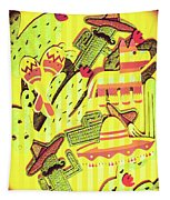 Cactus Carnival Tapestry