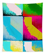 California Pop Art Panels Tapestry