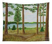 Camping At The Lake Tapestry