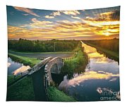 Canal Sunrise Tapestry