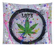 Cannabis With Love Tapestry