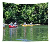 Canoeing On The Rideau Canal In Newboro Channel Ontario Canada Tapestry