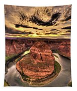 Canyons Bend Vertical  Tapestry