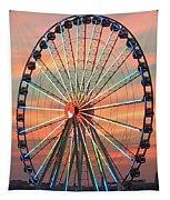 Capital Wheel Shining At Sunset  Tapestry