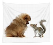 Careful I May Contain Nuts Tapestry