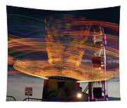 Carnival Rides Motion Blur Tapestry