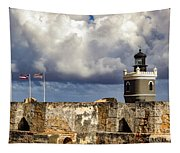 Castillo San Felipe Del Morro Lighthouse San Juan, Puerto Rico  Tapestry
