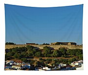 Castle Of Castro Marim From The Hill Tapestry