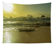 Catching The Spirit Sun Coastal Sunrise Tapestry