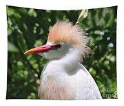 Cattle Egret Profile Tapestry