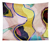 Chaotic Abstract Shapes Tapestry
