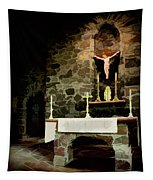 Chapel On A Rock Tapestry