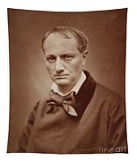 Charles Baudelaire, French Poet, Portrait Photograph  Tapestry