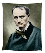 Charles Baudelaire, French Writer, Photo Tapestry