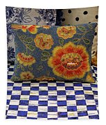 Checkerboard And Pillow Tapestry