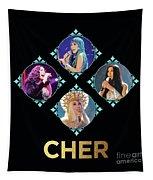Cher - Blue Diamonds Tapestry