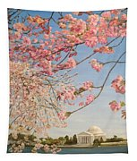 Cherry Blossoms At The Tidal Basin Tapestry