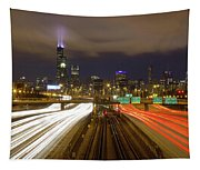 Chicago Skyline South Side View Tapestry