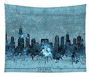Chicago Skyline Vintage 4 Tapestry