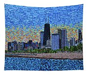 Chicago Sunset Tapestry